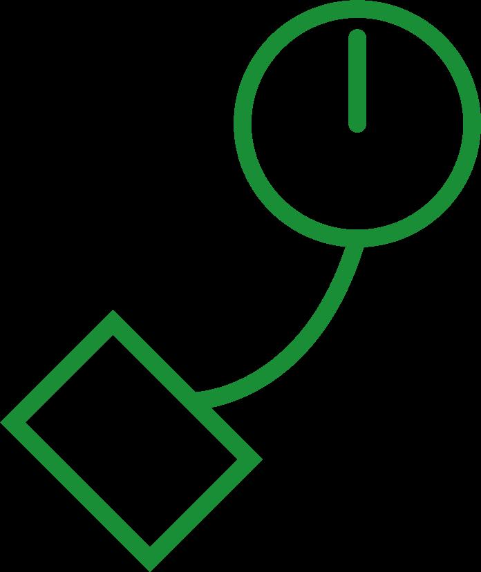 Icona holter pressorio verde
